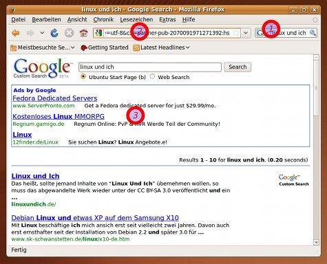 Die angepasste Google-Suche