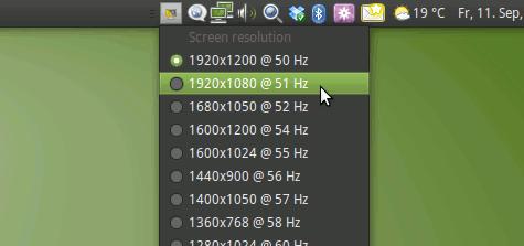 Mit wenigen Klicks die Auflösung des Bildschirms ändern.