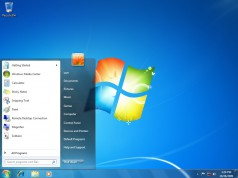 Leerer Desktop von Windows 7