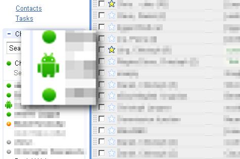 Statusanzeige mit Android in Google Mail