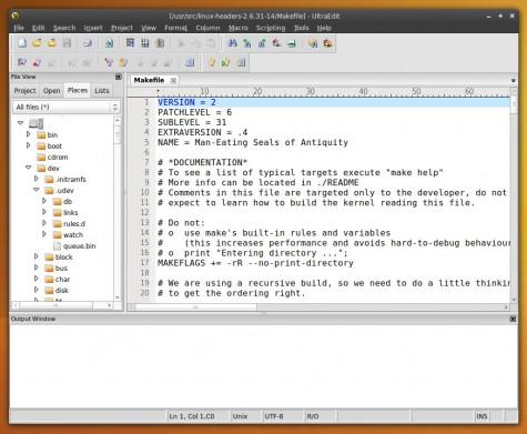 UltraEdit für Linux