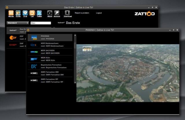 Zattoo mit eigener webapp.css