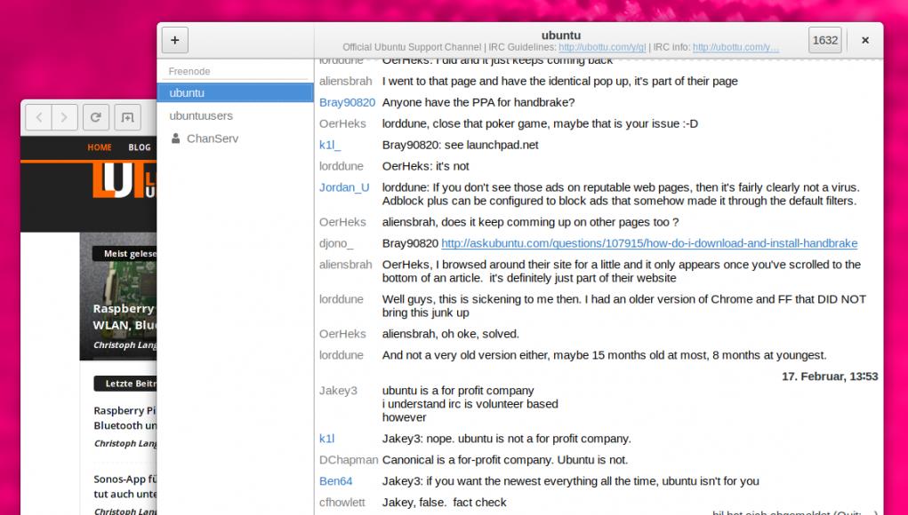 Hilfe zu Ubuntu via IRC