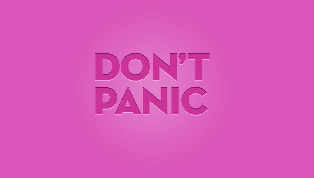 Don't Panic Pink