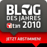 Abstimmung zum Blog des Jahres bei t3n