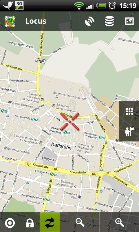 Lokus zeigt Google Maps