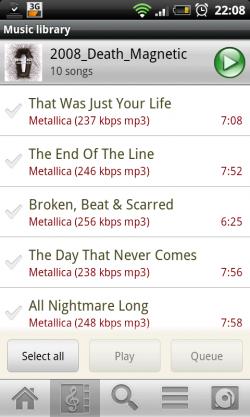 Subsonic für Android: Ein Album abspielen