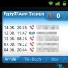 Mit dem FRITZ!App Ticker verpasste Anrufe auf dem Handy sehen