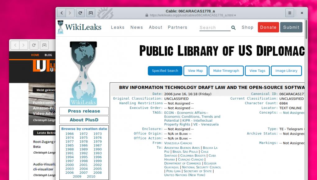 Wikileaks FOSS Venezuela