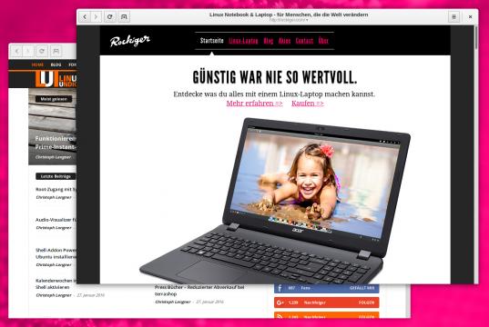 Rockiger Notebook Homepage