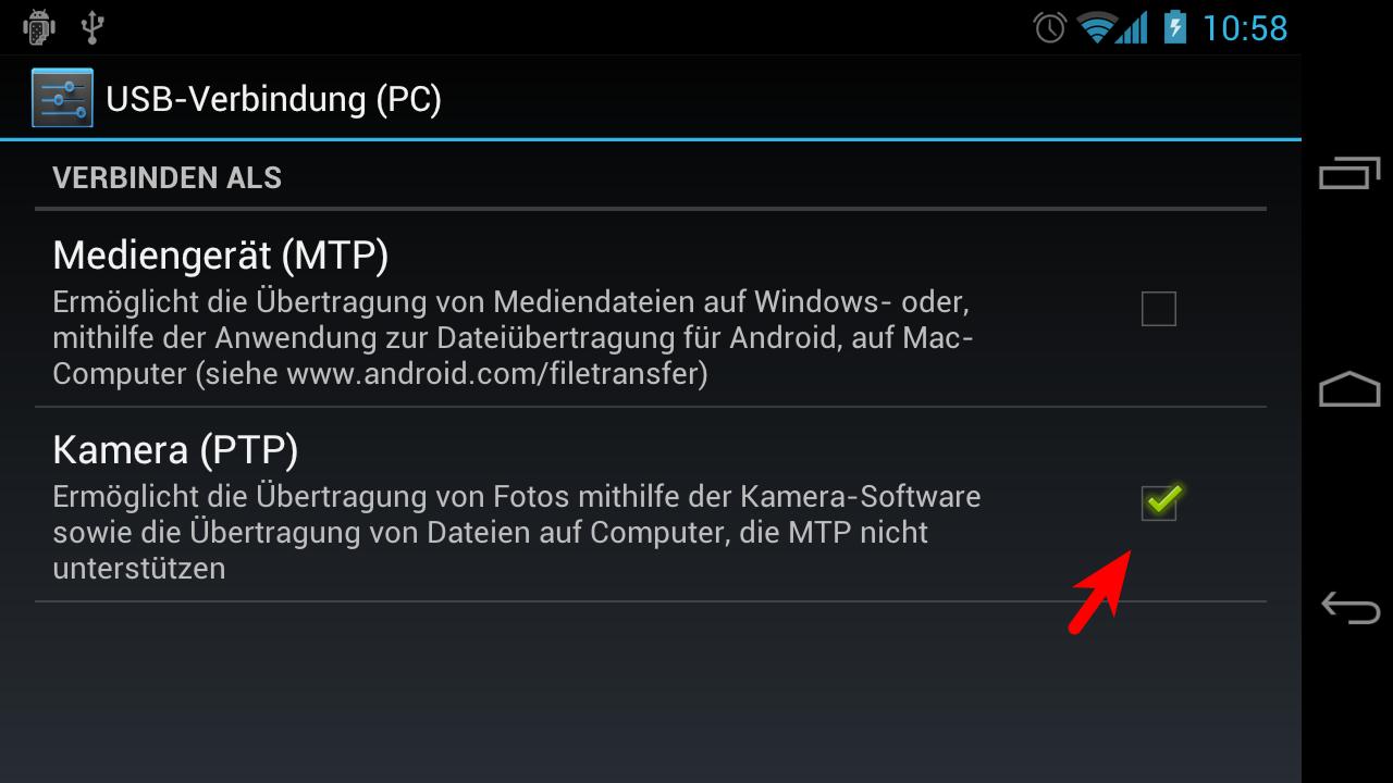 Android Speicher Auf Sd Karte Umstellen.Galaxy Nexus Bzw Android 4 0 Auf Ptp Umstellen Und Unter Linux Die