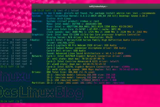 Inxi unter Arch Linux