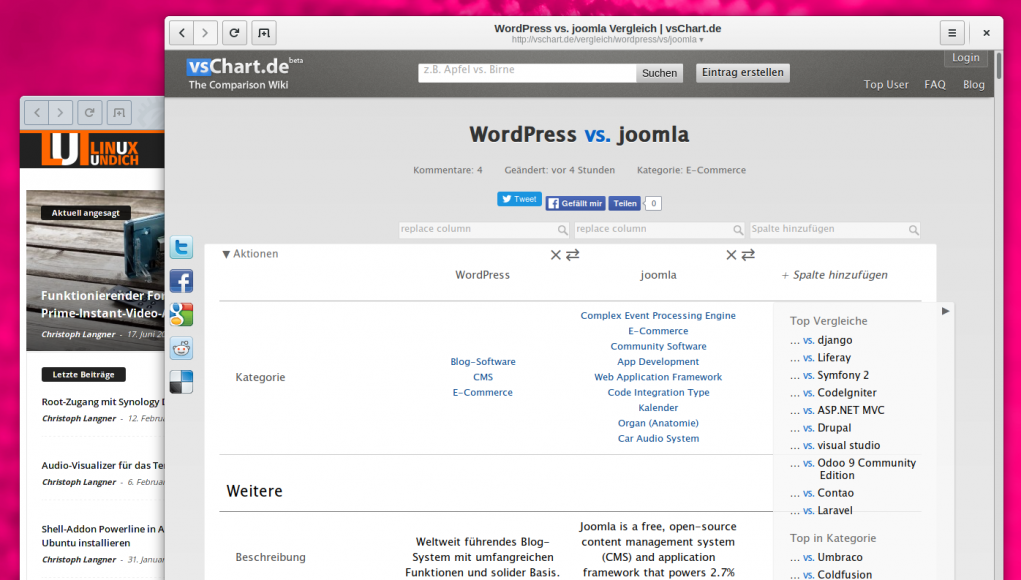 vsChart Wordpress Joomla