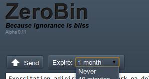Verschlüsselte PasteBin-Alternative ZeroBin