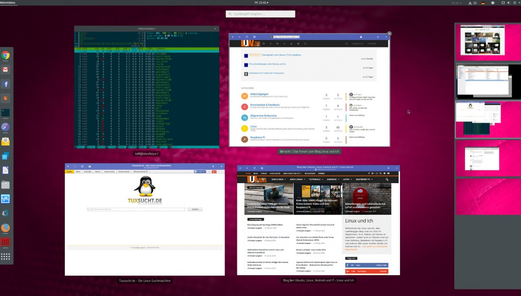 Gnome Shell unter Arch Linux