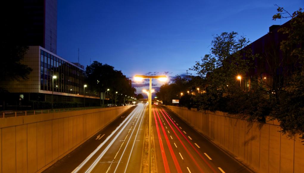 Karlsruhe zur blauen Stunde