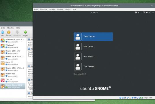 VirtualBox Ubuntu Gnome