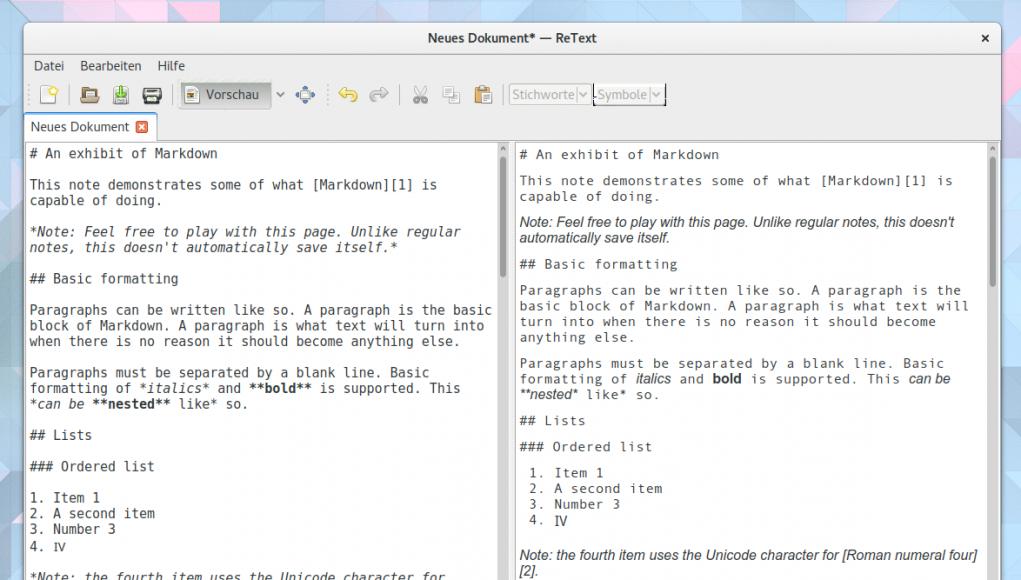ReText Markdown Editor