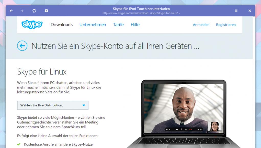 Skype für Linux herunterladen