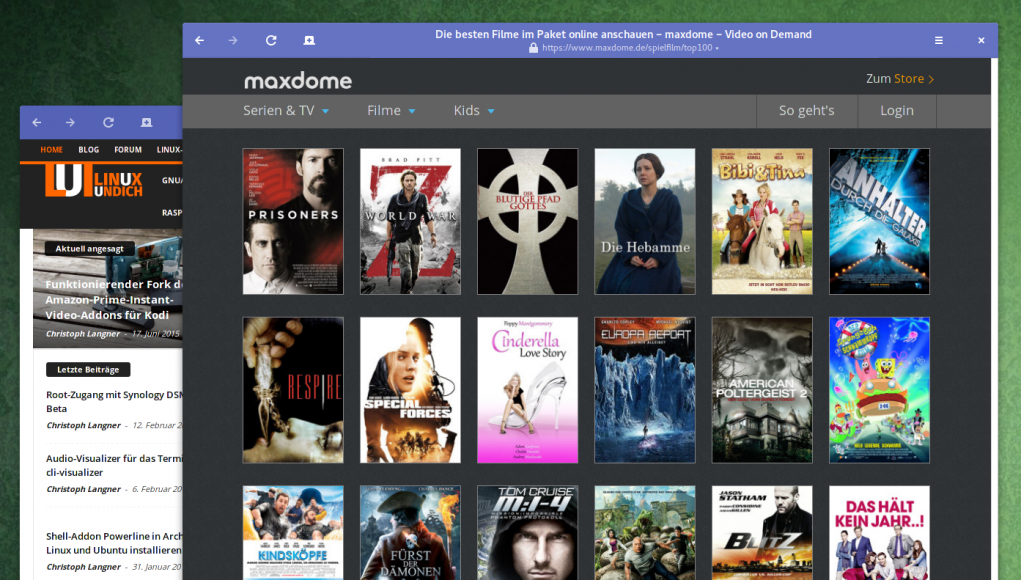 Maxdome und Lovefilm unter Ubuntu
