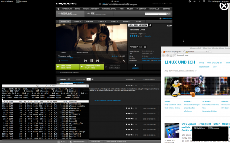 Maxdome im Windows-Firefox unter Ubuntu 12.10.