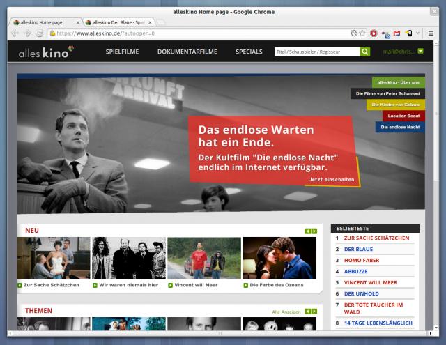 Auf alleskino sollen eines Tages alle deutschen Filme zu sehen sein.