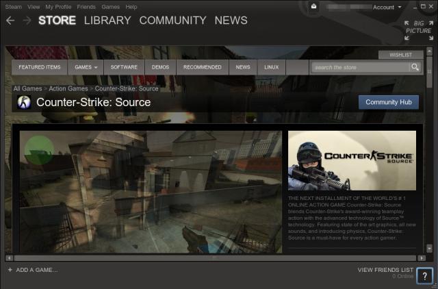 Ich habe mir Counter-Strike und Halflife zum Testen ausgesucht.