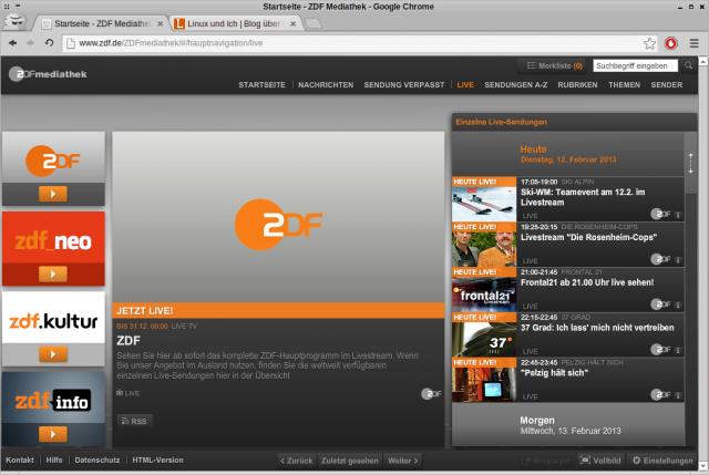 Das ZDF plus die Spartensender des Zweiten finden man seit heute in der Mediathek.