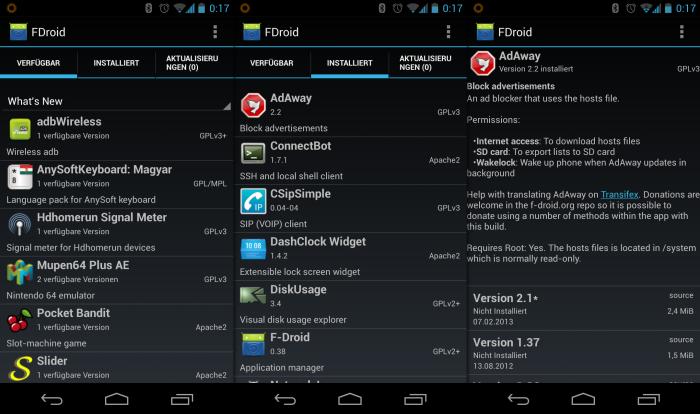 F-Droid ist ein alternativer Market für Android, der sich komplett Open-Source-Apps verschrieben hat.