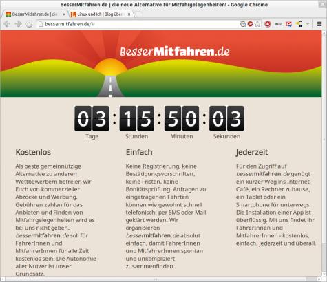 BesserMitfahren.de startet am 7. April.