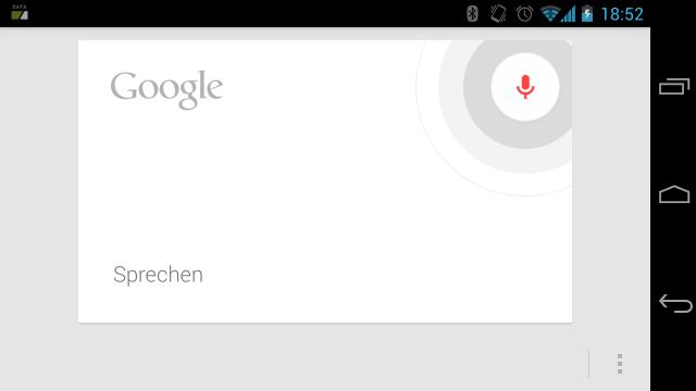 """Ab Android 4.1 """"Jelly Bean"""" springt Google Now bei einem längeren Klick auf den Headset-Button an."""