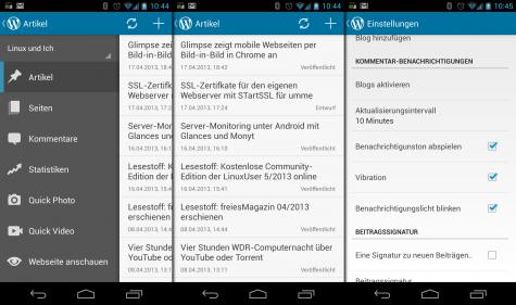 Wordpress für Android wurde komplett überarbeitet.