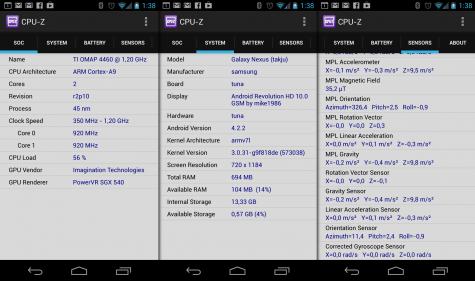 CPU-Z ist als erste Beta jetzt auch für Android erschienen.