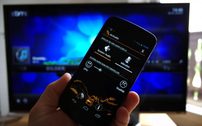 AirAudio streamt die komplette Audio-Ausgabe zum XBMC-Mediacenter.