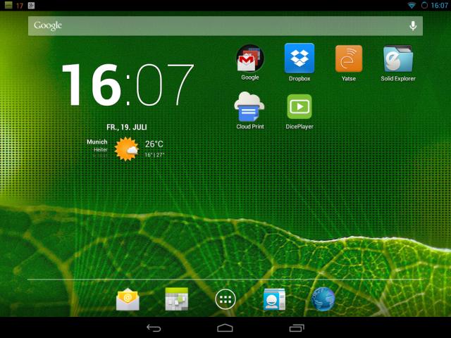 Android 4.2 in Form von CyanogenMod 10.1 auf dem HP TouchPad.