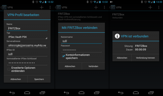 Die neue Weboberfläche macht nun auch das Einrichten des FRITZ!Box-VPNs unter Android einfacher.