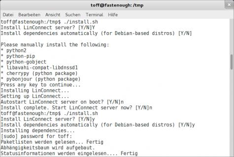 Für Ubuntu und Debian gibt es einen textbasierten Installer.