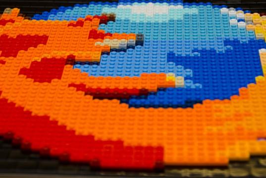 Firefox-Logo aus Lego