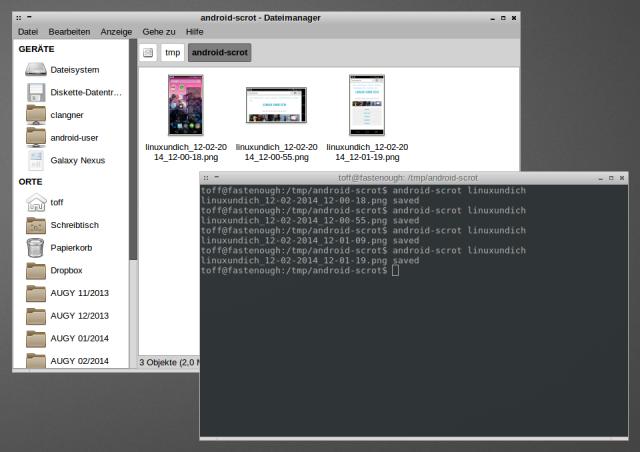 android-scrot erstellt Handy-Screenshots über das Linux-Terminal.