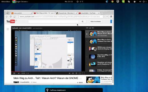 Caffeine stellt bei Videos im Vollbild automatisch den Bildschirmschoner ab.