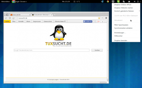 Die TopIcons schieben Skype, Dropbox und Co. in der Gnome Shell wieder ins Top-Panel.