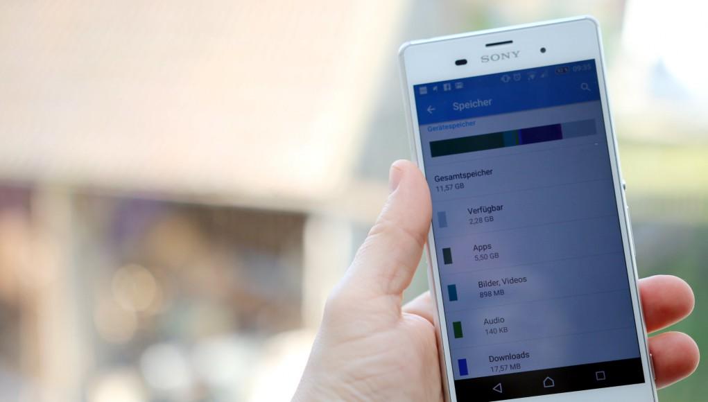 Smartphone Speichereinstellungen