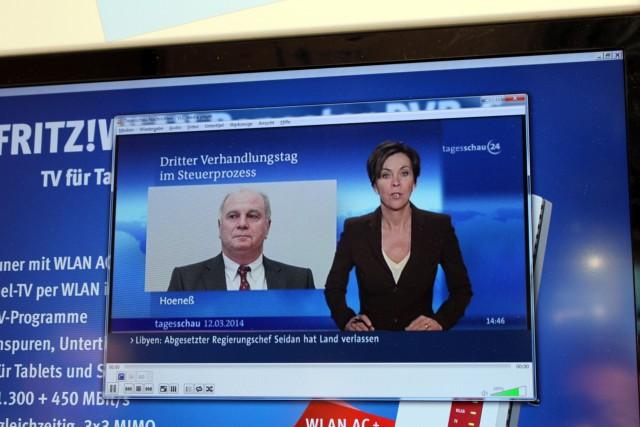Hier stream der FRITZ!WLAN Repeater DVB-C zu einem Windows-PC mit VLC, das funktioniert natürlich auch unter Linux.