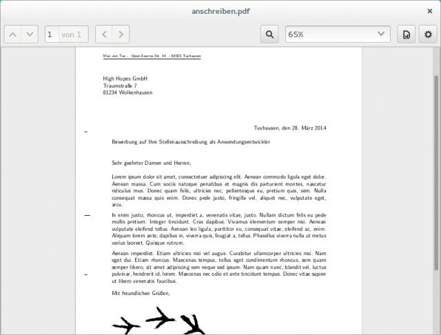 Für das Anschreiben eurer Bewerbung könnt ihr euch bei den zahlreichen Brief-Vorlagen bedienen.