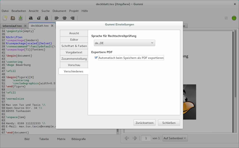 Bewerbung mit Hilfe von LaTeX-Vorlagen unter Ubuntu oder Arch Linux ...