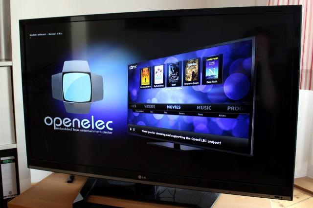 Der Raspberry Pi macht zusammen mit OpenELEC jeden TV zum Smart-TV.