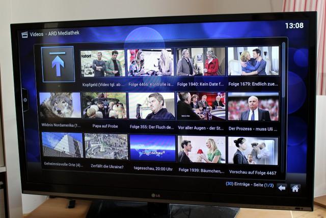 Neben lokal oder im Netzwerk gespeicherten Videos spielt OpenELEC auch die großen Mediatheken ab.