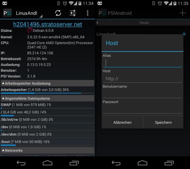 Für PhpSysInfo gibt es inzwischen auch eine Android-App.