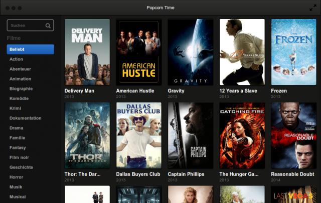 Popcorn Time streamt Filme via BitTorrent auf den Rechner.