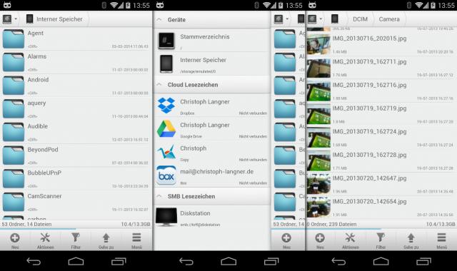 Mit dem Solid Explorer lassen Sich Bilder und Videos aus dem Dateimanager heraus an den Chromecast schicken.